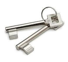 Standaard binnendeur sleutels