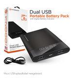 HyperGear 20000 mAh universele dubbele USB-led Power Bank_