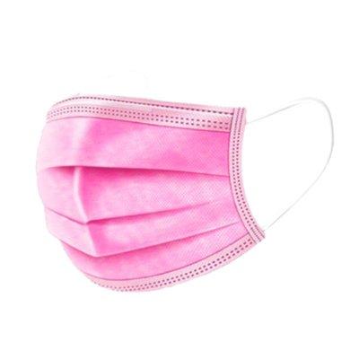 Wegwerp mondkapjes roze 20 stuks