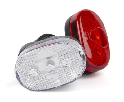 Fietslampen set LED ovaal