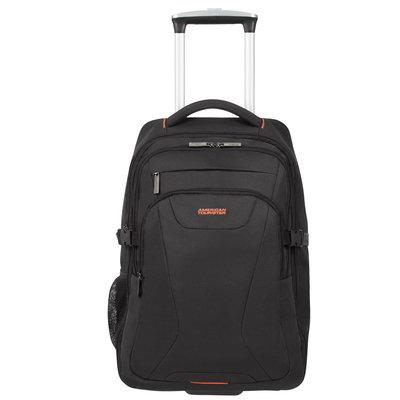 American tourist at work laptop backpack wh 15,6 black orange