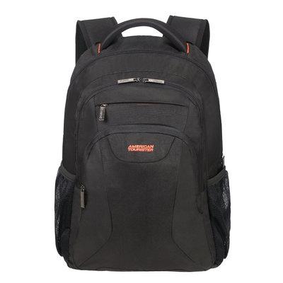 American tourist at work laptop backpack 17,3 black-orange