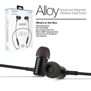 Naztech Alloy Magnetic Wireless Earphones